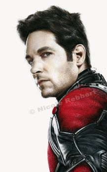 Ant-Man (drawing) by Quelchii