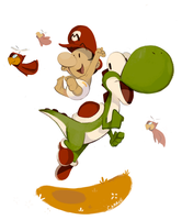 Sketch Dailies: Mario by carriehankins