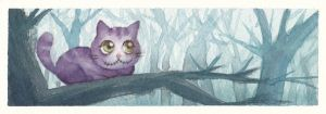 Cheshire Cat in the forest by rinoa-kisaragi