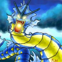 GYARADOS used HYPER BEAM by Yushiko