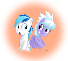 Shooting Star and Cloudchaser by PixelDisc
