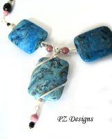 Gabrielle's Turquoise Necklace by PurlyZig
