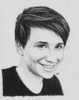 Day 9 - Draw Dan/Phil with your non-dominate hand by DraconaMalfoy