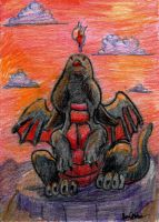ACEO Fire In The Sky by Boarfeathers