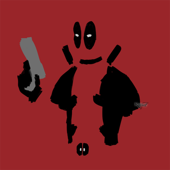 Minimal Deadpool by Kallian91