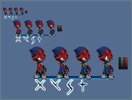 I havent posted a sprite in a bit by StealthFireHedgehog