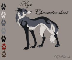 Nyx Character Sheet - Cameo by hecatehell