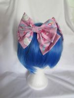 Sweet Lolita Bow with Bunny Print pink by SeeU-in-Wonderland