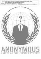 Anonymous logo STENCIL v2.0 by OpGraffiti