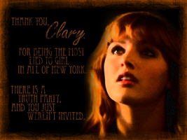 Truth Party - Clary by ReachForTheStarfish