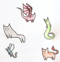 Cat Critters Adoptables. {OPEN} by thedoomedkitteh