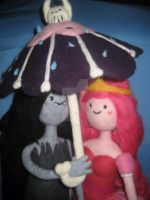 My Needle Felted Princess Bubblegum and Marceline by CatsFeltLings