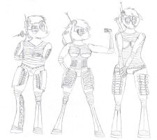 armored gals by billy2345