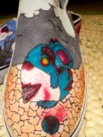 Zombie Pokemon Shoes -Marill by DevouringCrayons