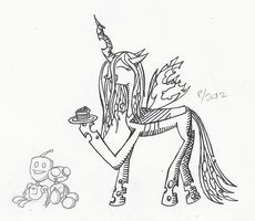 Chrysalis and Cake Inked by Arctic-Lux