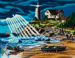 Lighthouse - Approaching Storm by Haydaad
