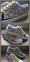 Customised Sneakers 07 by injuryordeath