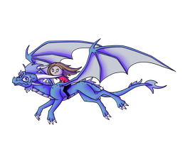 Just me, flying on a dragon... by IcelectricSpyro