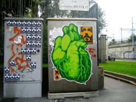 2007 Paste up Bistolfi Milano by orticanoodles