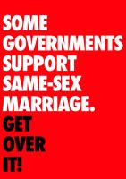 Some Governments Support Same-Sex Marriage by kingpin1055