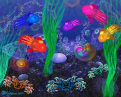 Undersea Wonders Collage by wolfepaw