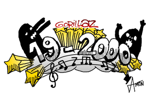 Gorillaz 19-2000 fake Logo by xAm0n12x