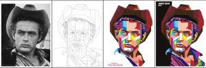 James Dean in WPAP, the making by istikhar