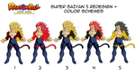 SSJ5 Redesigns by MalikStudios