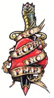 No Hope No Fear Tattoo by tjiggotjurring