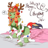 Merry Christmas Harley And Ivy by Y0KO