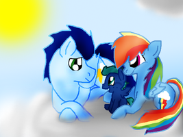 Storm Rider and his family by Yoshi123pegasister
