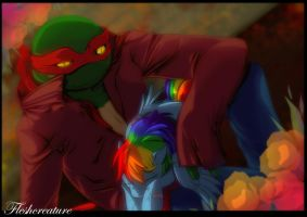 TMNT and My Little Pony_FRIENDSHIP by FleshCreature
