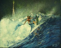 shredding waves my painting by cliford417