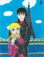 Lovers in Paris by Lily-de-Wakabayashi