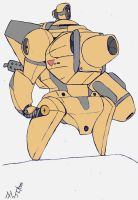 metal slug prototype: mecha slug 2 (golden) by meatboom