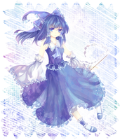.Blue Reimu by Effier-sxy
