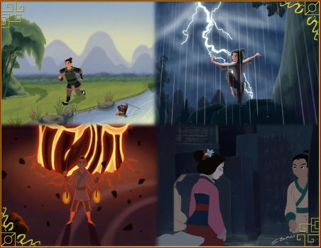Mulan Collage by Silver-Dynamo