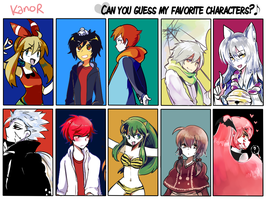 Meme : Can u guess my favorite character by KanorR