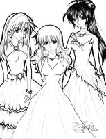 manga: the girls in gown by reirei18