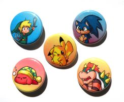 gaming buttons by michellescribbles