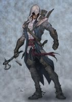 Assassin's Creed 3: Connor colored by alexasrosa