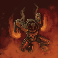 Lava crazy robot by robiant