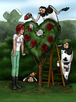 Painting The Roses Red by Anastina91