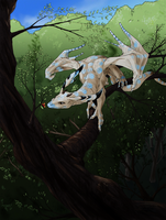 the blue tree dragon by elen89