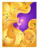 Rapunzel and the Magic Golen Flower by ALBY-LePetiteDreamer