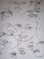 One line portraits 1 by Vez