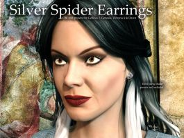 Free 3D Prop: Narcissa's Silver Spider Earrings by deslea
