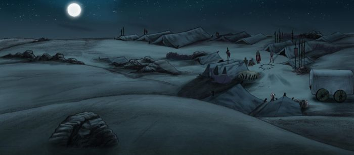 Background art for the short film The Scape. by art2work