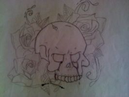 Skull and Roses by Dragonsquall7280