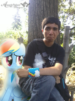 Rainbow Dash and Brandon- 1st day of school by BCMmultimedia